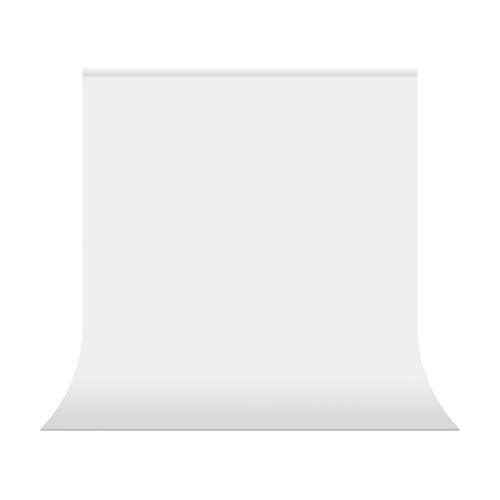 UTEBIT Sfondo Bianco 1,5x2m / 5x6.5ft Sfondo fotografico Pieghevole bianco Sfondo studio fotografico 100% poliestere Sfondo tessuto con tasca per asta per supporto fotografico Studio Ritratto Prodotto