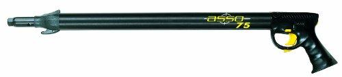 Seac Asso S/R, Fucile Subacqueo Pneumatico ad Aria Compressa per Pesca Sub, Nero, 75
