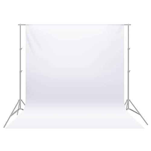 Neewer - Sfondo fotografico pieghevole in mussola 100%, Bianco, 1.8 x 2.8 m