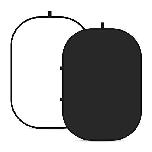 Neewer® 1,5x 2m/150cm x 200cm fondale doppio Twist pop out mussola sfondo pannello con custodia da trasporto per studio fotografico video shooting (nero/bianco)
