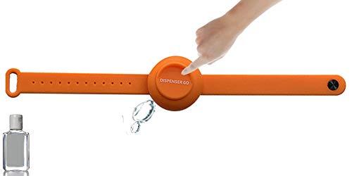 Dispenser Go bracciale igienizzante porta gel mani da polso (Arancione)