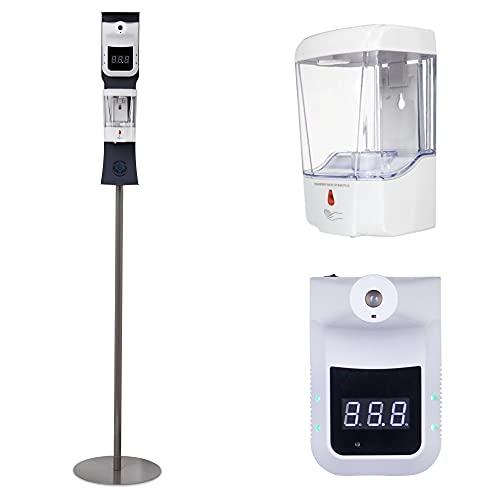 SCRIVIA TERMOSCANNER E Dispenser Automatici CERTIFICATI Termometro digitale con piantana e dispenser automatico | Termometri digitali