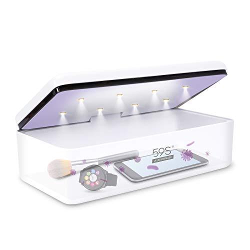 Sterilizzatore UV Professionale, 59S Sterizzatore UV Scatola LED con 8 Perline Lampada Sterilizzazione Rapida 99,9%, Adatto per Cellulari, Occhiali, Estetica, Strum S2