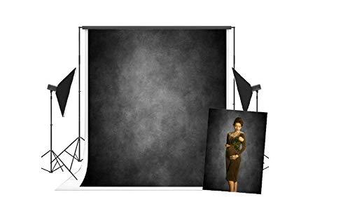 WaW Fondale Astratto Carbone Grigio Studio Fotografico, Telo Struttura Sfondi Studio Fotografici Vintage Ritratto 1.5x2.2m