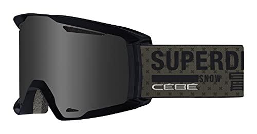 Cébé Reference x Superdry, Maschera da Sci Unisex-Adult, Dusty Olive Matte, Large