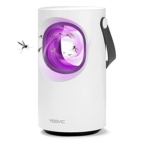 YISSVIC Lampada Antizanzare Elettrica, Zanzariera Elettrica USB Silenzioso Intelligente della Luce UV per Camere da letto, Cucine