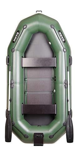 BARK Gommone Gonfiabile B-280NP 2,8 m 280 cm Barca a Remi per 3 Persone Canotto Barca da Pesca Supporto Motore Elettrico Bottazzo Versione Professionale (B-280NP Pavimento Suppoto Motore Bottazzo)