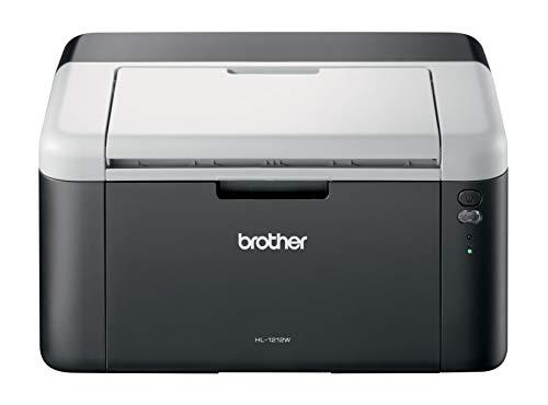 Brother HL-1212W Stampante Laser Monocromatica, Risoluzione 2400 x 600 DPI, Compatta, USB 2.0 e Wi-Fi, toner da 700 pagine incluso