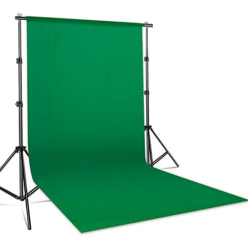 Green Screen, 1,8 x 2,9m sfondo per studio fotografico pieghevole in poliestere con 4 anelli di colla, per studio fotografico, fotografia, modem, registrazione video, sistema di sfondo