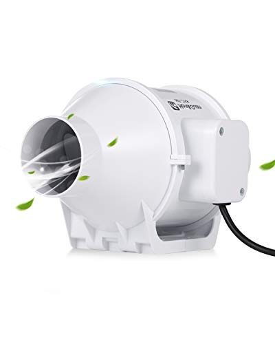 Hon&Guan Estrattore Ventilatore in Linea Super Leggero Aspiratore per Bagno (ø75mm standard)