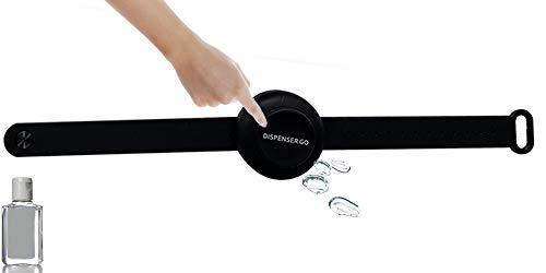 Dispenser Go bracciale igienizzante porta gel mani da polso (Nero)