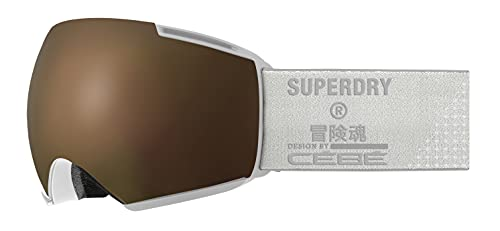 Cébé Icone x Superdry, Maschera da Sci Unisex-Adult, White Shiny, Large