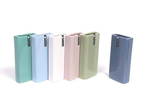 GIRM® ME30268 Set 3 Umidificatore termosifoni evaporatore in Ceramica Rettangolari Lisci cm.18x8x4 Assortiti