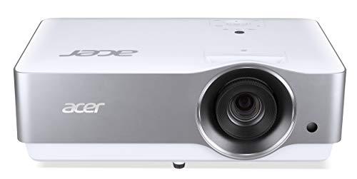 Acer VL7860 Proiettore con Risoluzione 4K UHD (3840x2160), Contrasto 1.500.000:1, Luminosità 3.000 ANSI, Connessione HDMI, VGA, USB, Porta Ethernet, Altoparlanti Integrati, Bianco