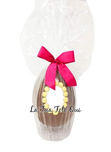 Uovo di Pasqua ARTIGIANALE cioccolato al latte personalizzato con SORPRESA inviaci la tua immagine e ti personalizzeremo l'uovo come vuoi tu! (1 kg)