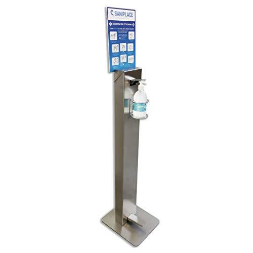 Colonnina piantana dispenser gel igienizzante NO TOUCH a pedale in acciaio inox