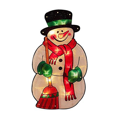 Luci A Filo Di Decorazione Natalizia A Led, 2020 Luci A Sospensione A Ventosa Di Finestra Ornamento Di Natale, Luce Sagoma Metallica Pupazzo Di Neve