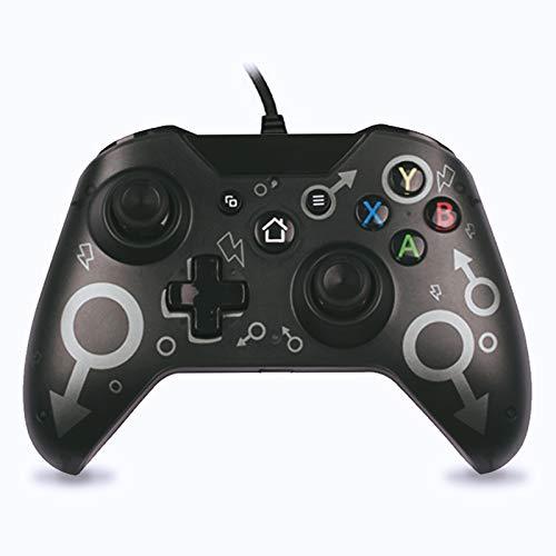 Controller Xbox One USB Wired Joystick per xbox one x, xbox one s, xbox series x , GamePad Microsoft & Windows PC Vista Windows XP/7/8/10 (Nero)