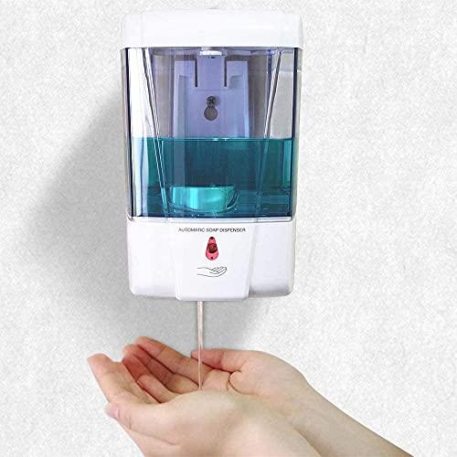 Dispenser Sapone Liquido Parete,700ML Dispenser Sapone Automatico con Sensore di Movimento a Infrarossi,Evita i Batteri. Dispenser igienizzante Mani per Cucina,Bagno,Albergo,Ristorante