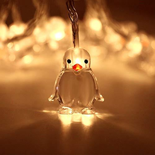 Dramir 10 luci a forma di pinguino a forma di animale, luci da fiaba, romantiche per interni ed esterni, impermeabili, 1,65 m, adatte per camera da letto, festa di compleanno, Halloween, Natale