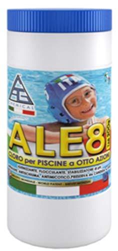 Piscina Cloro pasticche 200 gr CagChemical ALE8 1,4 kg 8 funzioni