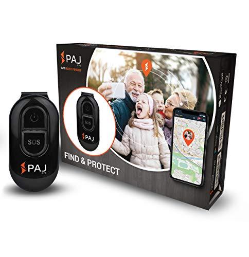 PAJ GPS Easy Finder GPS Tracker per bambini, anziani, persone con demenza - switch-off protection - durata della batteria di 5 giorni (10 giorni in standby)