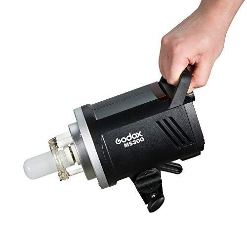 Godox MS300 Studio Flash 300ws con Godox 2.4G senza fili X sistema Flash stroboscopico 5600K±200K, Lampada modellante da 150W e Bowens mount