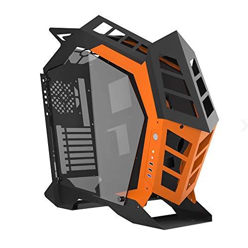 Noua Vision Z8 Black/Orange Case ATX Full Tower per PC Gaming 1.2MM SPCC Front Metal 3*USB3.0/2.0 Pannelli Laterali in Vetro Temperato (AxPxL: 560x572x210 mm)
