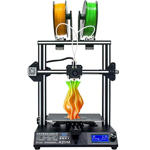 GIANTARM Geeetech A20M Stampante 3D con Mix-Color-Stampa, Base Edificio Integrata, Doppio Estrusore-Design,Filamento-Rivelatore e Break-Resuming-Funzione, Prusa I3 Rapido-montaggio DIY kit …