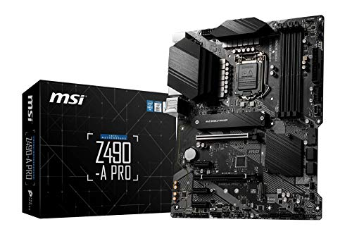 MSI Z490-A PRO Scheda Madre (ATX, 10 Gen Intel Core, LGA 1200 Socket, DDR4, Dual M.2 Slots, USB 3.2 Gen 2, 2.5G LAN, DisplayPort/HDMI)