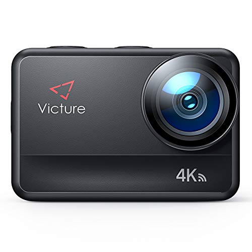 Victure Action Cam AC940 4K/60FPS Wi-Fi 20MP Impermeabile Fino a 5 Metri di Metallo Nudo Touch Screen con Controllo Remoto Funzione EIS e Slow Motion, Due Batterie e Molteplici Accessori