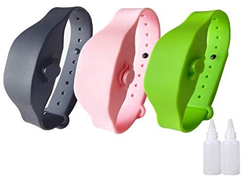 Braccialetto disinfettante per mani vuoto indossabile Braccialetto disinfettante per mani in silicone ricaricabile (3pack)