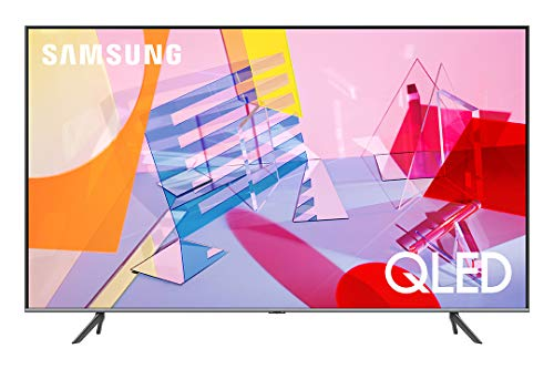 """Samsung QE75Q64TAUXZT Smart TV 75"""" QLED 4K, Ultra HD, Dual LED, Processore Quantum Lite, Quantum HDR, Wi-Fi, New Bezel-less design, 2020, Alexa integrata, Google Assistant, Grigio (Titan Grey)"""