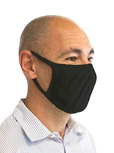Relaxsan - Set 3 [Nero] Fasce filtranti Viso Bocca Naso Lavabili riutilizzabili assorbenti Tessuto batteriostatico