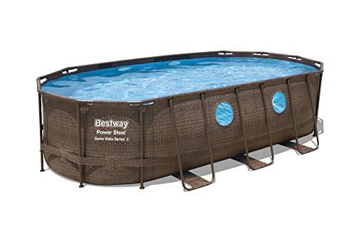 Bestway Power Steel Swim Vista Series Oval Pools, Brown