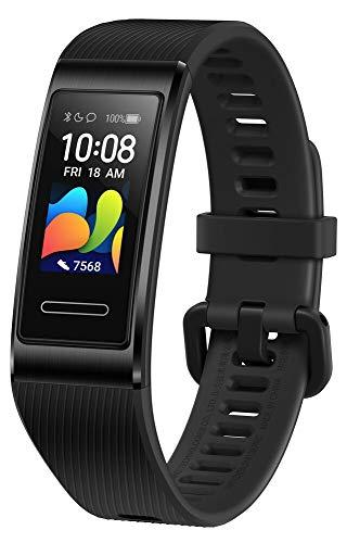 """HUAWEI Band 4 Pro Smart Band Fitness Tracker, Touchscreen AMOLED 0.95"""", Monitoraggio Battito Cardiaco, Monitoraggio Scientifico del Sonno, GPS Integrato, Resistente all'Acqua, Nero (Graphite Black)"""