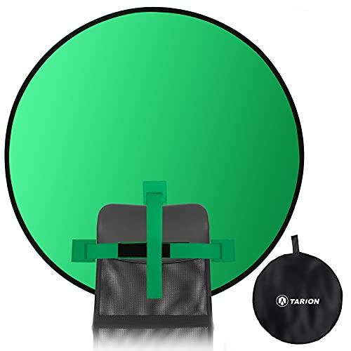 TARION Sfondo fotografico Sfondo per studio fotografico portatile Sfondo con schermo verde a doppia faccia (Backdrop-GN-110)