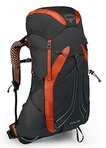 Osprey Exos 38, Hiking Pack Uomo, Blaze Black, MD