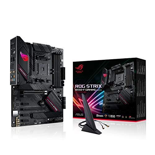ASUS ROG STRIX B550-F GAMING (WI-FI), Scheda madre Gaming AMD B550 ATX con PCIe 4.0, fasi di alimentazione in team, 2.5Gb Lan, WiFi 6 (802.11ax), dual M.2, SATA 6 Gbps, USB 3.2 Gen 2, Aura Sync RGB