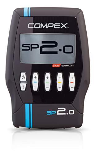 Compex SP 2.0 Elettrostimolatore, Nero con Banda Azzurra