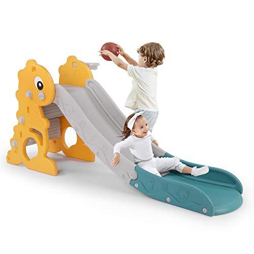 LAZY BUDDY Scivolo per Bambini Scivolo per 1-5 Anni, Diverdenti Stabile e Sicuro
