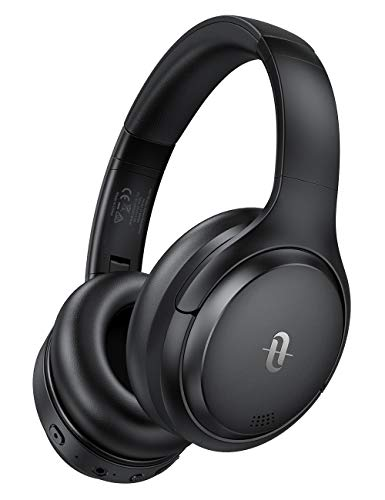 TaoTronics Cuffie Bluetooth, Cuffie Over Ear Comode, Cuffie Wireless Bluetooth Suono Hi-Fi, Cuffie Cancellazione Rumore Attiva 35 Ore Ricarica Rapida, CVC 8.0 per Cellulare Androide/IOS