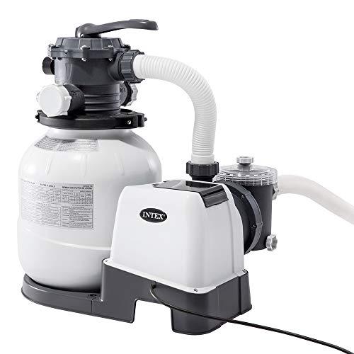 Intex 26646 Pompa a Sabbia - Flusso Acqua: 7.900 l/h, Flusso Sistema: 6.000 l/h