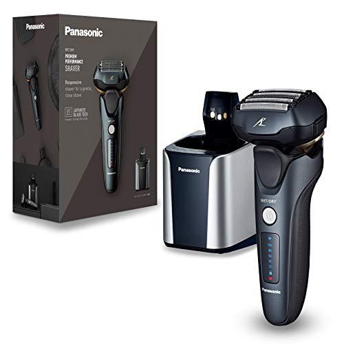 Panasonic - Rasoio a secco e a umido, con testina di rasatura a 5 lame, con motore lineare