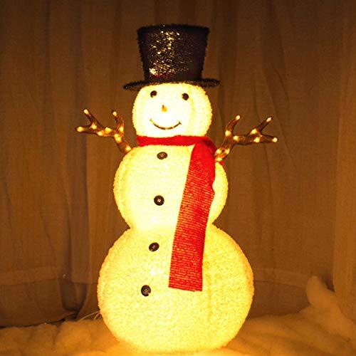VVA Pupazzo di Neve Illuminato Pupazzo di Neve Decorativo Illuminato Decorazione Natalizia Luminosa a Pupazzo di Neve con LED Bianchi per Interni ed Esterni Altezza 120 cm