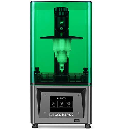 ELEGOO Mars 2 Mono LCD Stampante 3D a polimerizzazione UV con display LCD monocromatico 2K da 6 pollici, dimensioni di stampa 129 * 80 * 150 mm / 5,08 * 3,15 * 5,90 pollici