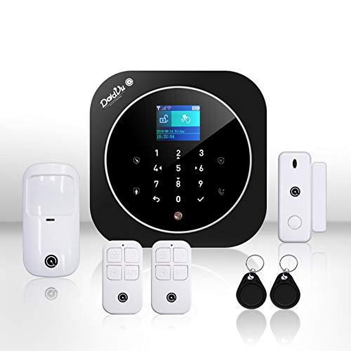 Sistema di Allarme casa Kit wireless senza fili, WIFI, GSM, Kit Dadvu DV-2AT, Combinatore Telefonico, 100 zone, App DadVu (Smart Life - tuya), Compatibile Google Home ed Alexa