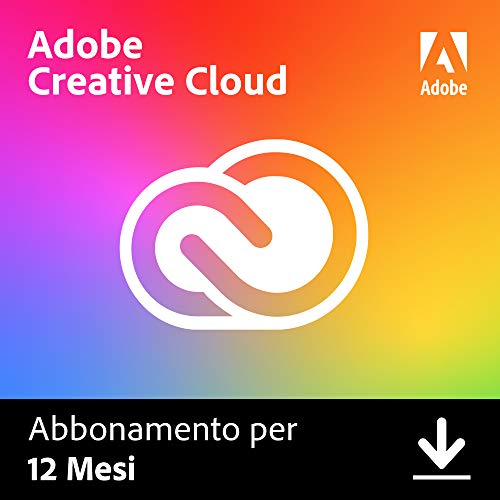 Adobe Creative Cloud | Standard | 1 Anno | PC/Mac | Codice d'attivazione via email