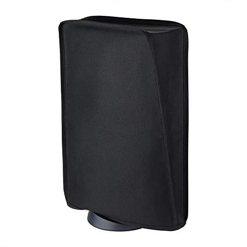 PlayVital per PS5 Cover Copertura Antipolvere per Playstation 5 Console Digital Edition&Edizione Regolare,Coperchio in Nylon Verticale Protettivo Impermeabile per PS5 Console(Nero)