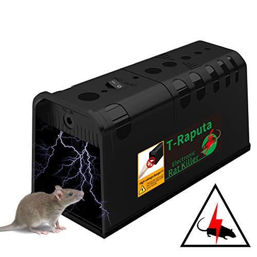 T-Raputa Trappola per Topi elettrica,utilizzati per catturare al Coperto e all'aperto ratti, ratti, parassiti, roditori